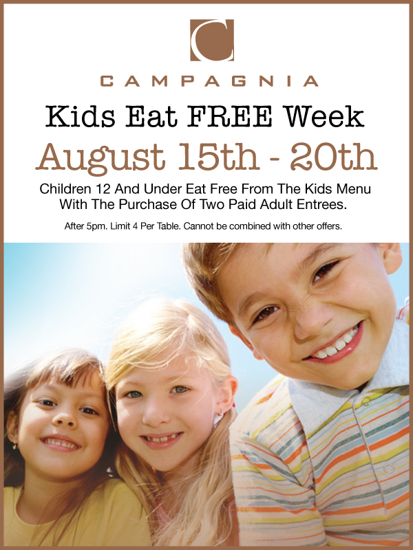 Kids Eat FREE Fresno | Campagnia Bistro