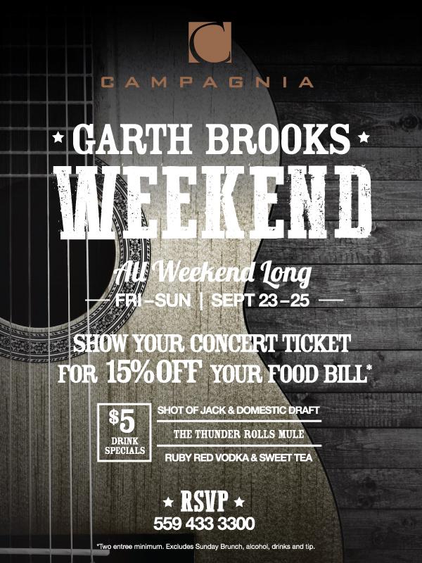 Garth Brooks Concert Pre-Party Fresno